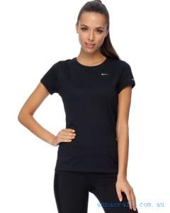 Nike - Miler SS Crew Top - T-Shirts Singlets - Black Reflective Silver.jpg