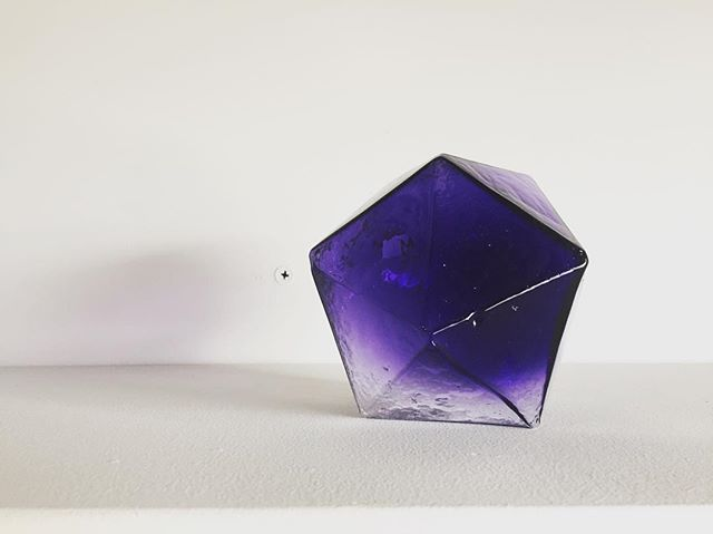 Deep purple.  It's Crawl week!  Come by and visit us during the @culturecrawl.  We are in the Mergatroid,  studio 255, 975 Vernon Drive, Vancouver. • • • • • • #crystalwonderland #crystals #glass #glassart #decor #homedecor #geometry #geometric #geometricart #purple #interiordesign #light #craft #canadiandesigner #vancouver #yvr #design #lightingdesign #eastsideculturecrawl #lighting #makersgonnamake #contemporarycraft #contemporarydesign #moderndesign #