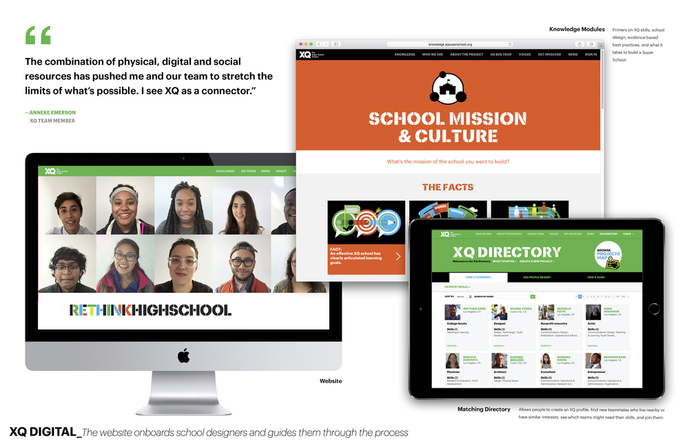Digital  - The website onboards school designers and guides them through the process
