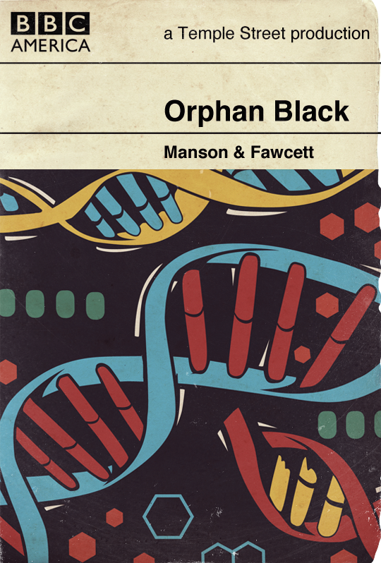 Orphan Black vintage inspired book cover