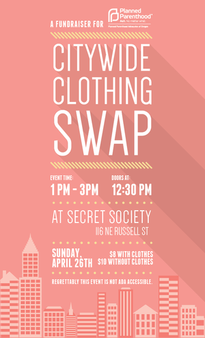 Citywide clothing swap at The Secret Society