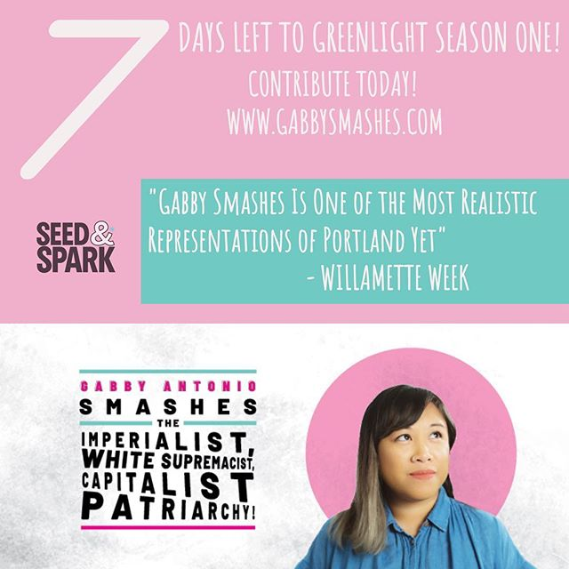 7 days left to contribute and greenlight season one of @gabbysmashes