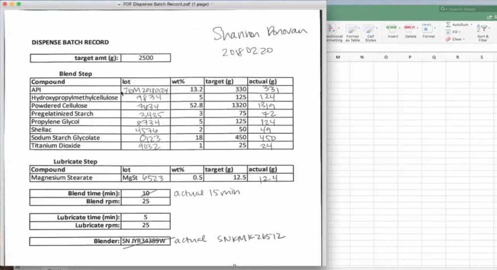 Current methods use manually recorded data shared on paper or individual spreadsheets.