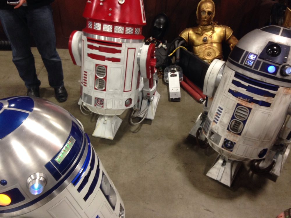 R2 Builders from Utah and Idaho gather their droids at the Jawa Outpost.