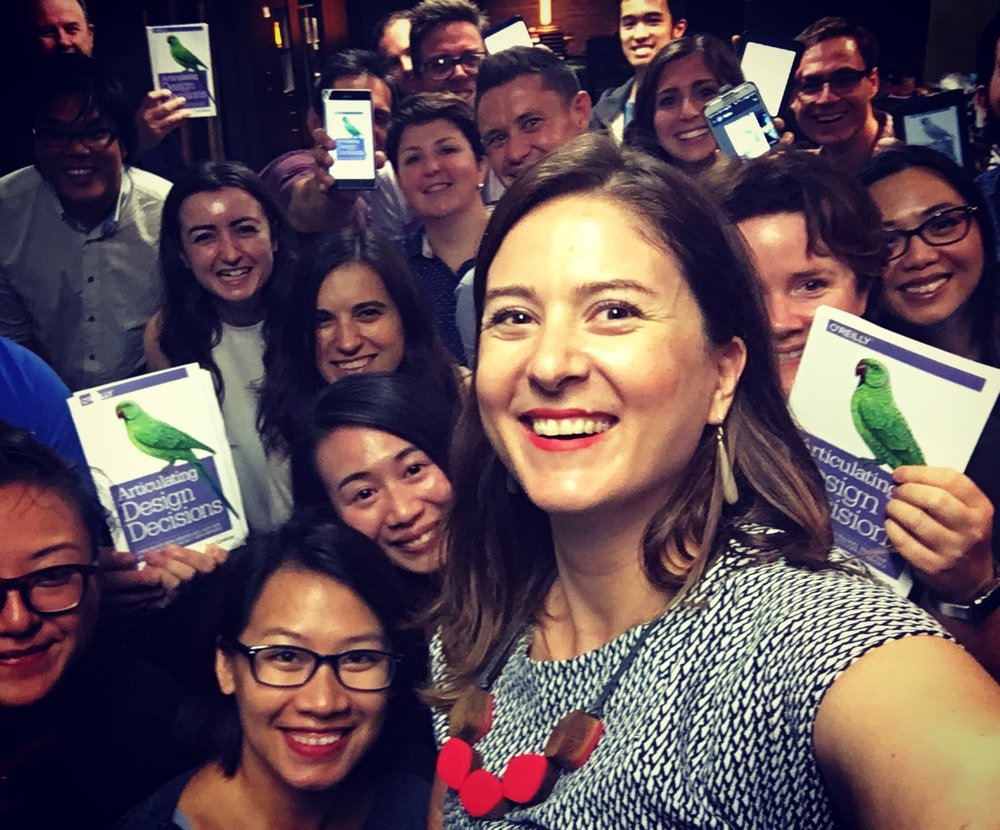 Best UX bookclub selfie ever! We took it to send to Tom Greever who was talking to us via skype.