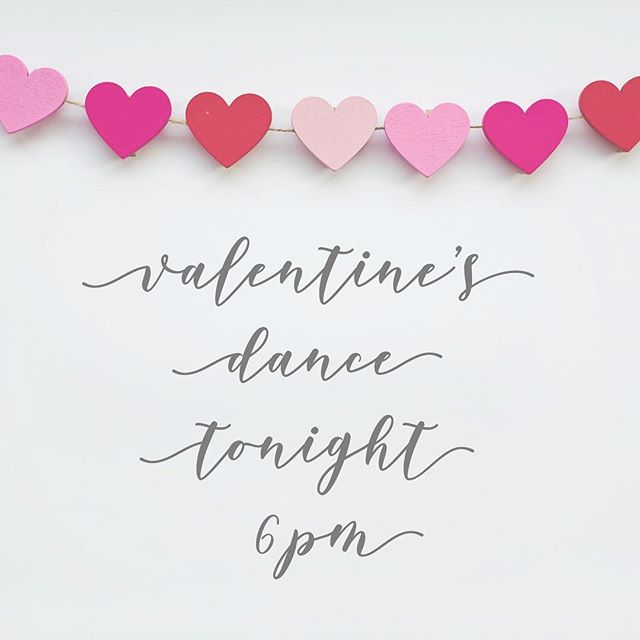 Come celebrate Valentine's Day with a dance party tonight at 6pm! You don't want to miss this night with our sweet friends. Bring your Valentine or a friend! 💕