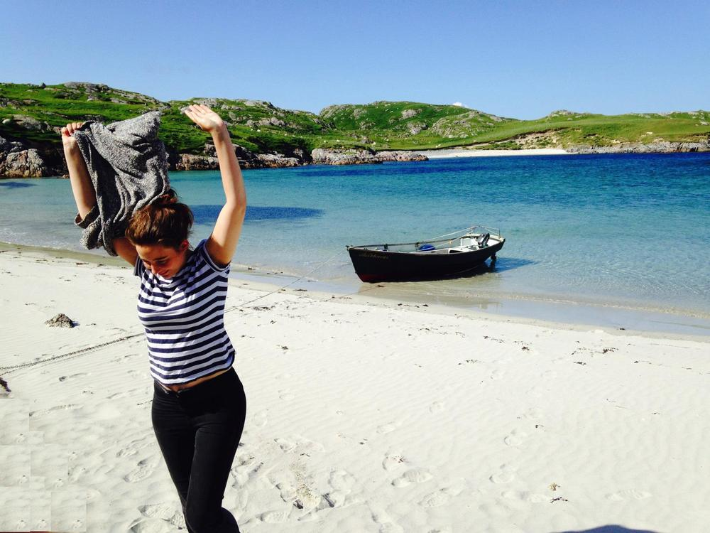on holiday in the Hebrides
