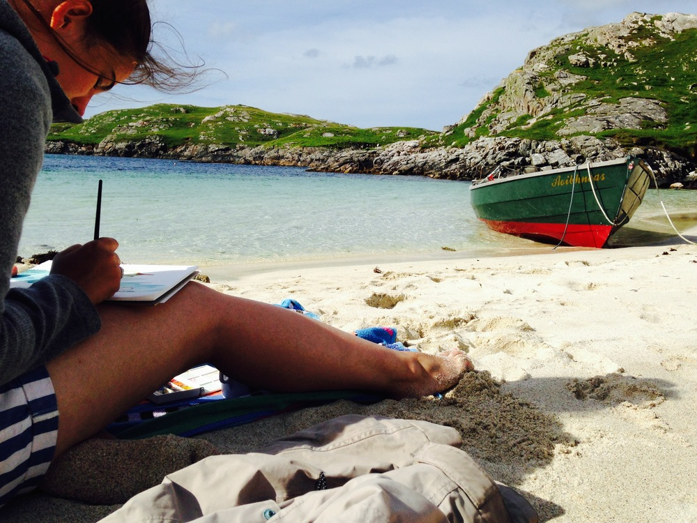painting in the Hebrides