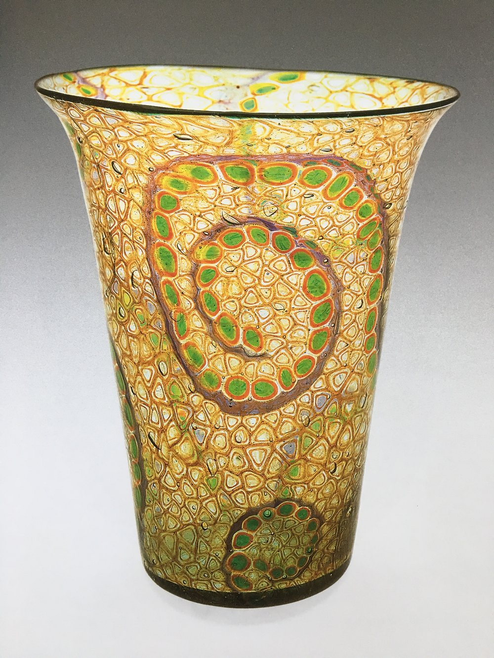 Anna Åkerdahl, large Mosaico vase for Ferro Toso, 1920, in the Weisman collection.