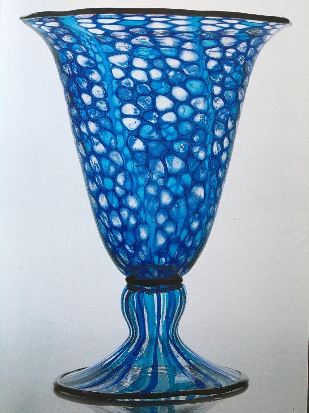 Anna Åkerdahl, Chalice mosaico, 28cm, 1920 for Ferro Toso. Torino private collection.