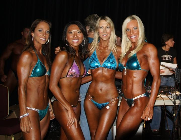 Me with my new friends at the NPC Tahoe Show in 2011 (I'm the third one from the left)