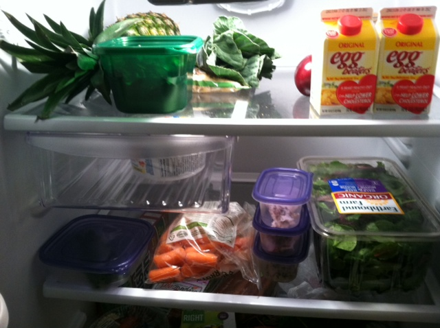 Inside my fridge