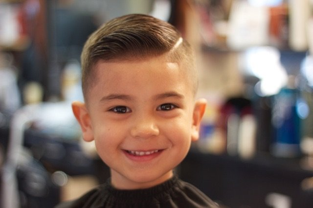 Looking slick! This simple cut is easy to maintain and super stylish for little rock stars.