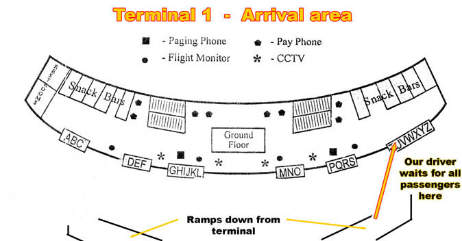 Pic 2. NAIA Airport Terminal 1 - Greeting Area