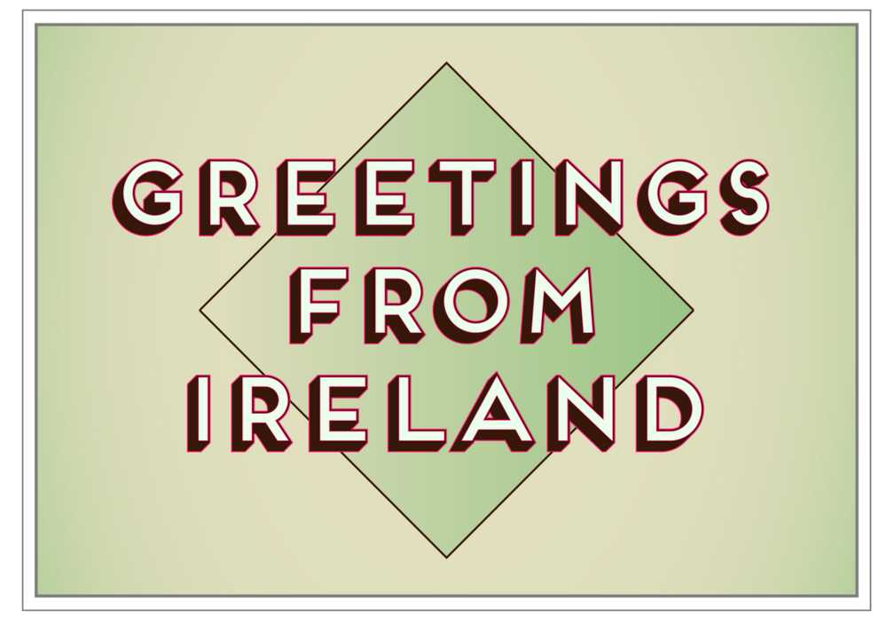 In December 2014 I was selected as one of 39 artists for Postcards from Ireland, run by the Library project in Dublin. The project was a response to postcards sold in Dublin, and aimed to showcase a more authentic and critical view of Ireland. The full set can be bought at this link: http://photoireland.org/product/greetings-from-ireland-postcard/