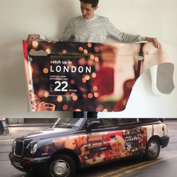 Christmas campaign taxi