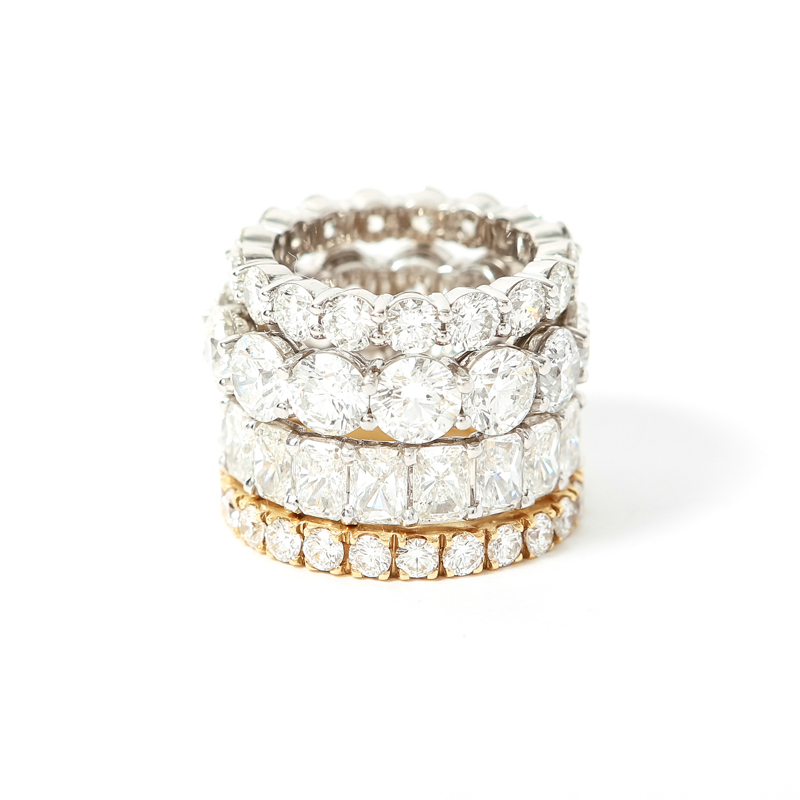 18 kt gold or platinum eternity bands available in any size