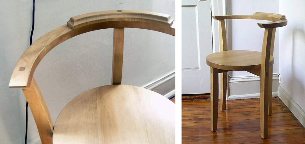 """Standard Edition""  desk chair in waxed hard maple,  2010."