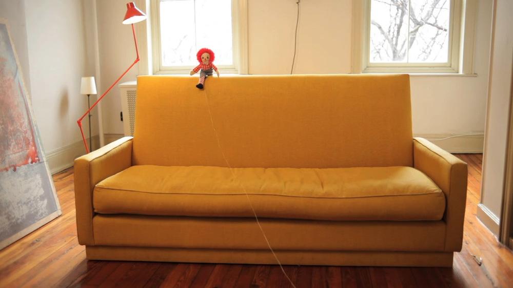 Sofa in glazed linen, 2009.