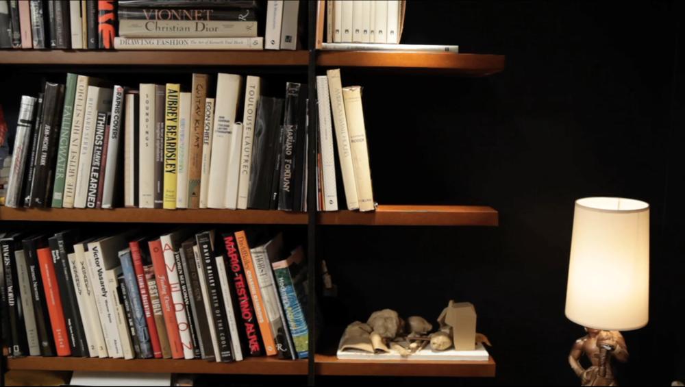Shelves, steel and masonite,2010.