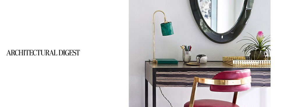 Series 01 Desk Lamp featured on Architecturaldigest.com, April 2016.         download pdf