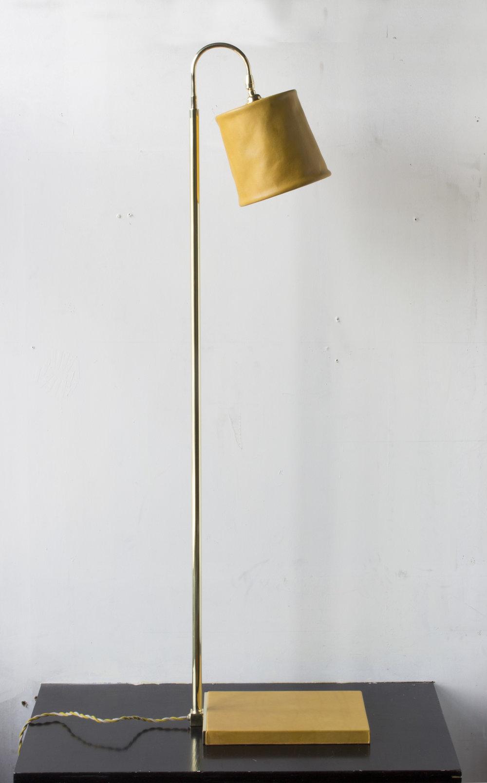 Amazing SERIES 01 FLOOR LAMP   MUSTARD   POLISHED UNLACQUERED BRASS