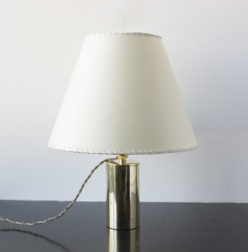 Series 02 table lamp polished unlacquered brass cream goatskin series 02 table lamp polished unlacquered brass cream goatskin parchment mozeypictures Choice Image