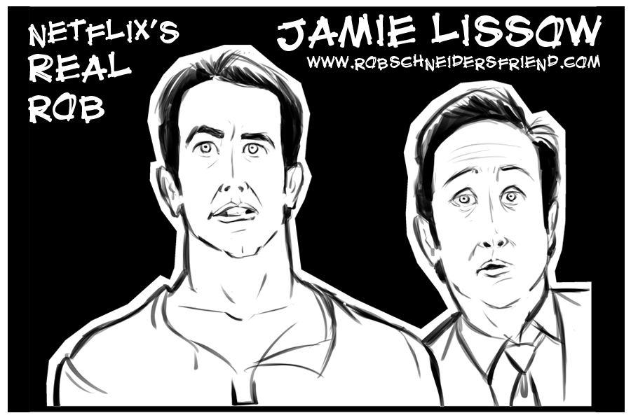 Promo piece for Jamie Lissow and Rob Schneider