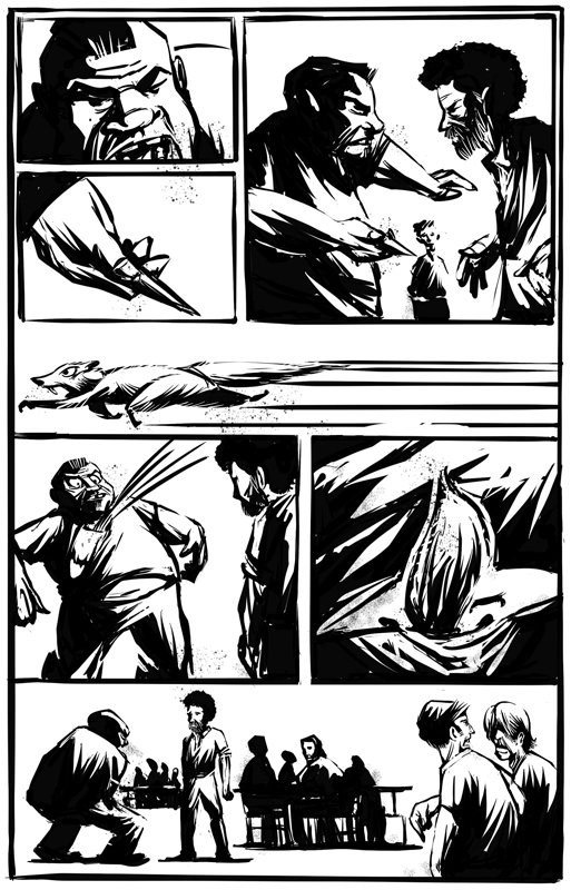 "A page from the graphic novel ""The Joy of Prison"""