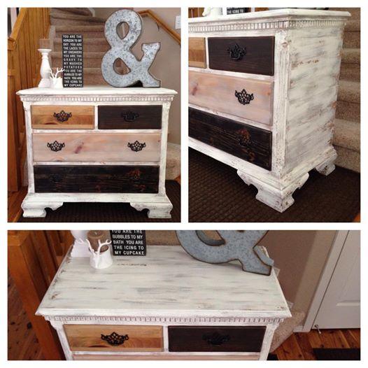 Rustic Multi Colored Wood Dresser   Painted Furniture Denver, Colorado
