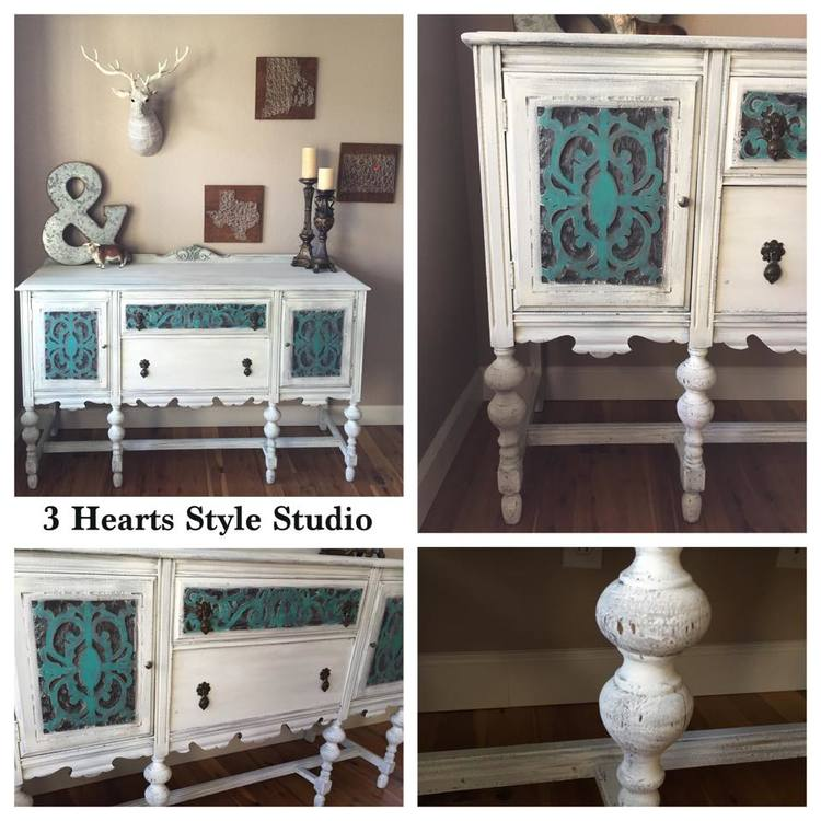 Antique Buffet - Painted Furniture Collection Denver, Colorado - Rustic Industrial Farmhouse Furniture Denver, Colorado