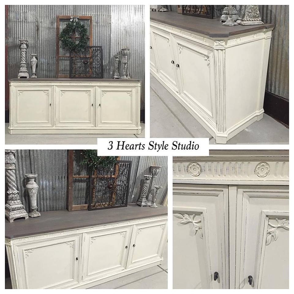 Driftwood Shabby Chic Media Console   Painted Collection Denver, Colorado