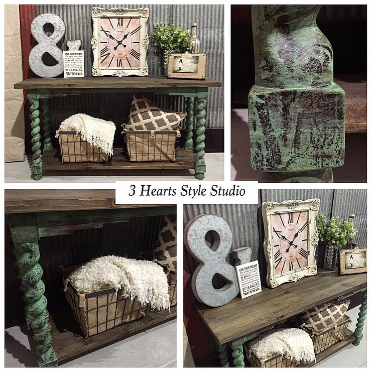 Rustic Distressed Console Table   Painted Furniture Collection Denver,  Colorado