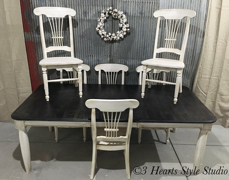 Farmhouse Dinning Room Table And Chairs   Painted Furniture Collection  Denver, Colorado