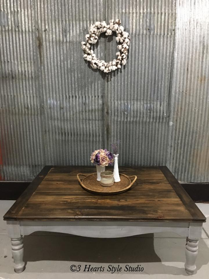 Rustic Gray Coffee Table   Painted Furniture Collection Denver, Colorado