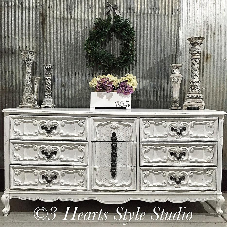 White French Provincial Dresser   Painted Furniture Collection Denver,  Colorado
