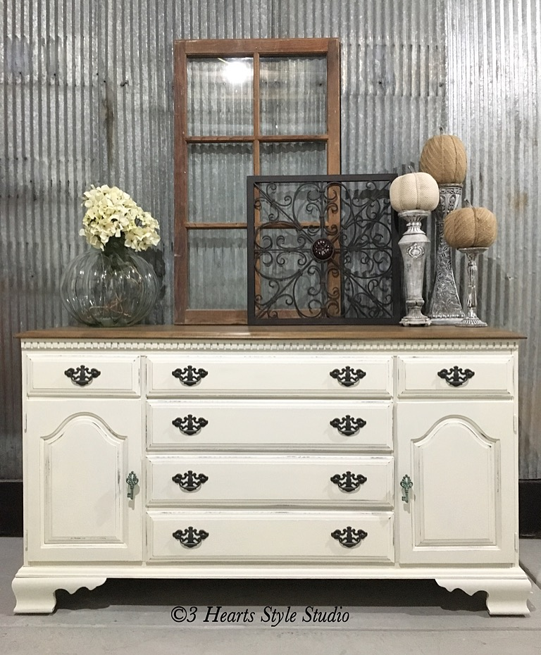 Farmhouse furniture style Rustic White Vintage Farmhouse Dresser Painted Furniture Collection Denver Colorado The Spruce Rustic Industrial Farmhouse Furniture Denver Colorado