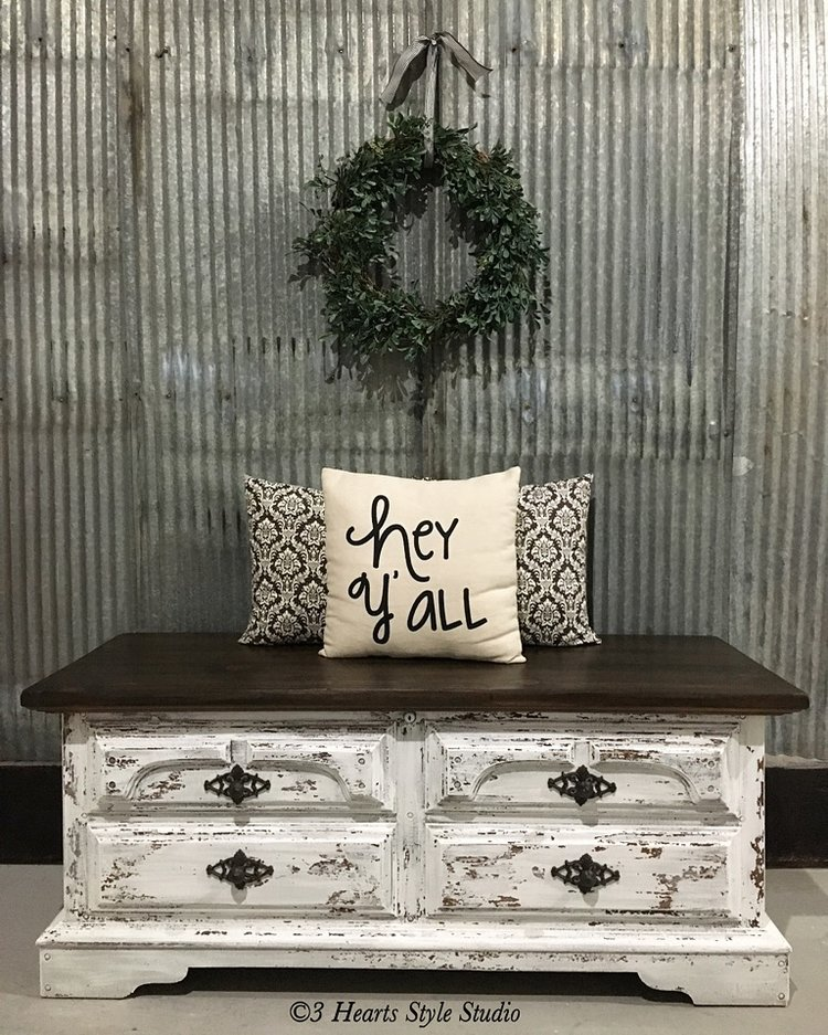 Antique Hope Chest - Painted Furniture Denver, Colorado - Rustic Industrial Farmhouse Furniture Denver, Colorado