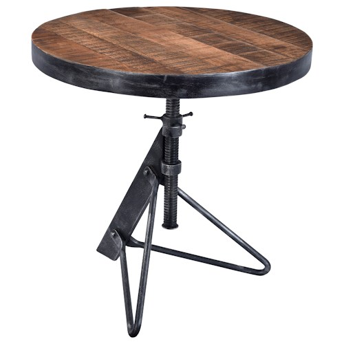 Iron And Wood Adjustable Table 3 Hearts Furniture Collection Denver,  Colorado