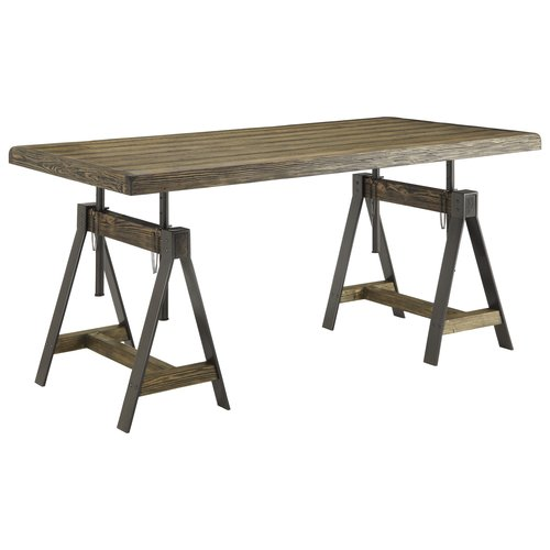 3 Hearts Style Furniture Collections Denver, Colorado- Industrial Wood &  Iron Writing Desk/Dining Table