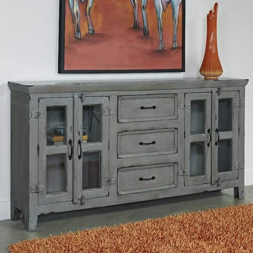 3 Hearts Style Furniture Collections Denver Colorado Distressed Gray Modern Farmhouse Media Console