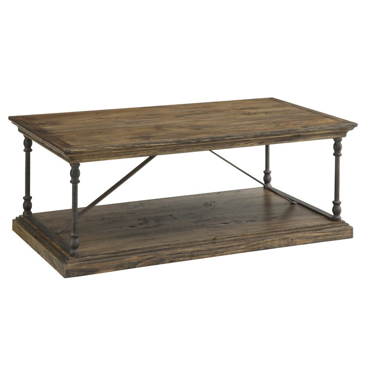 Rustic Iron & Wood Coffee Table $359.99