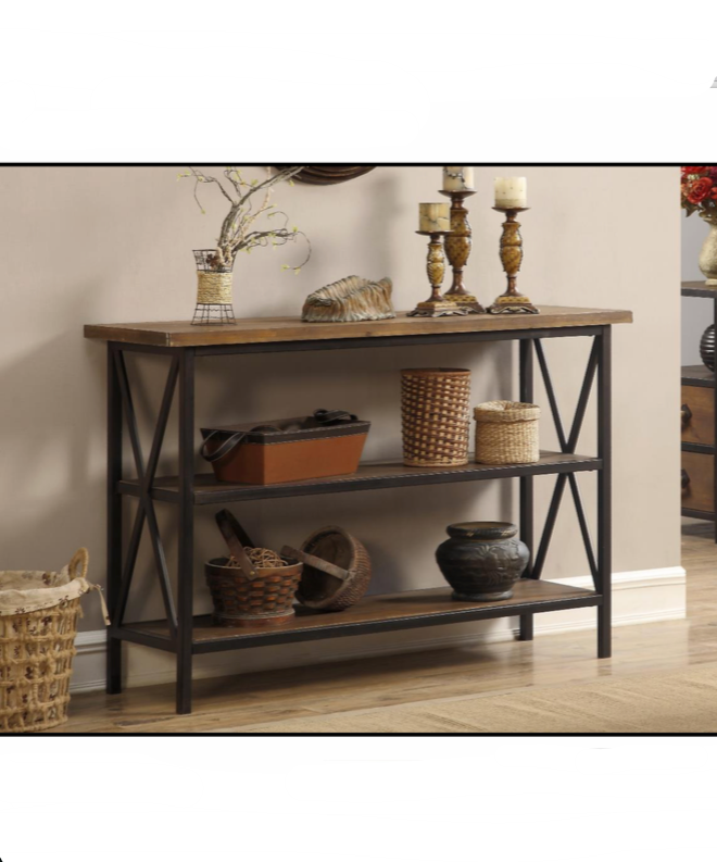Industrial Farmhouse Console Table $199.99