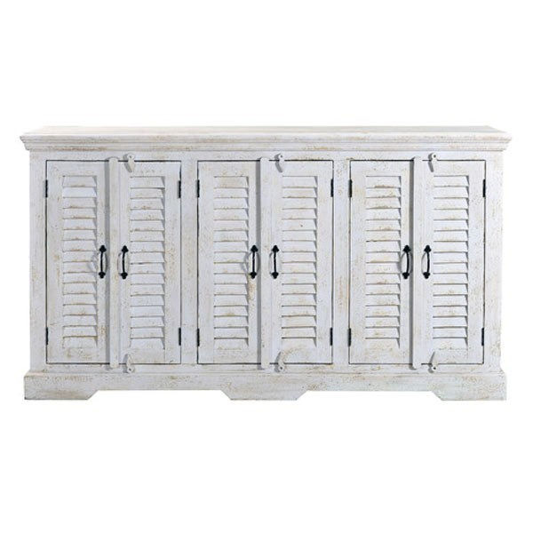 Shabby Chic White Shutter Door Media Console $999.99
