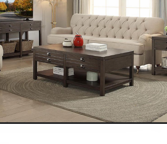 Rustic Rectangular Coffee Table $299.99