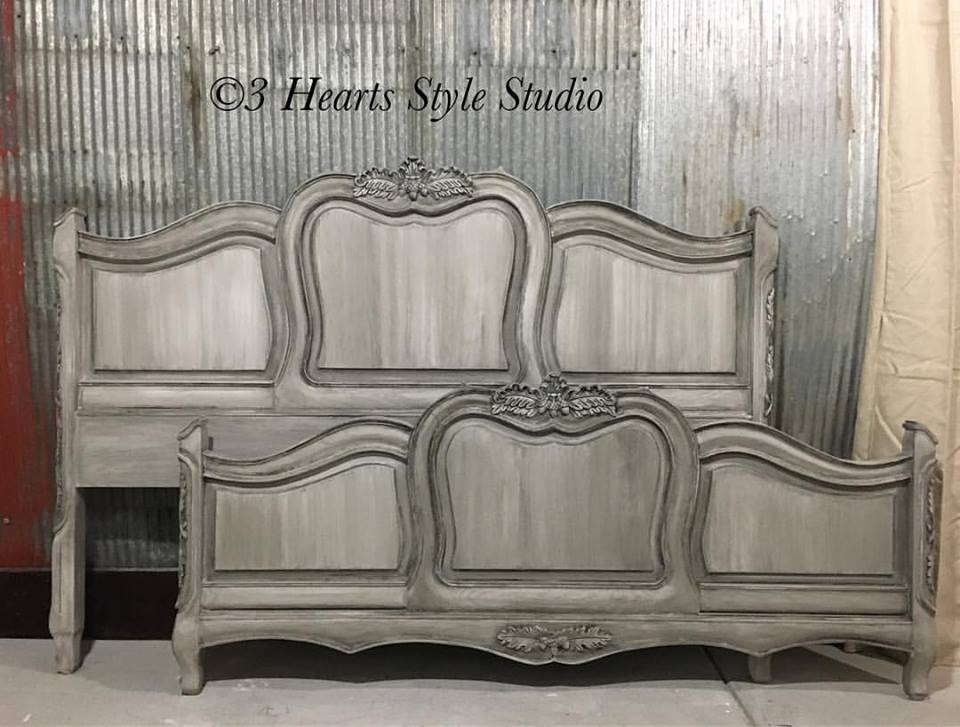Custom gray bedroom set