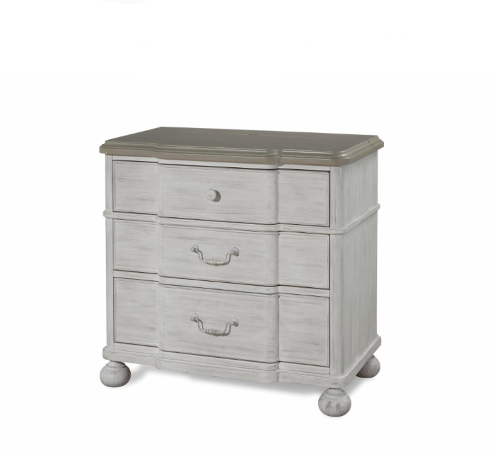3 Hearts Style Furniture Collections Denver, Colorado  Cobblestone Two Tone  Nighstand