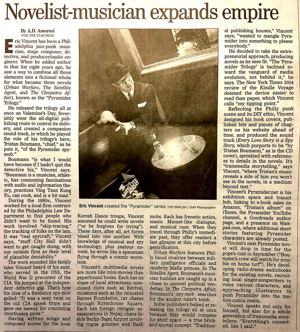 Philadelphia Inquirer April 2nd 2015