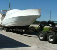 We have state of the art hydraulic trailers that makes transporting your boat or yacht safer and more convenient.