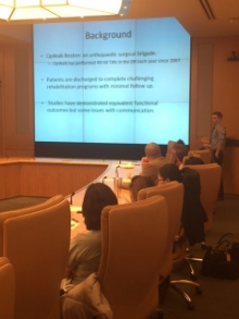 Derrick Stenquist, HMS student, discusses outcomes research planned for this trip